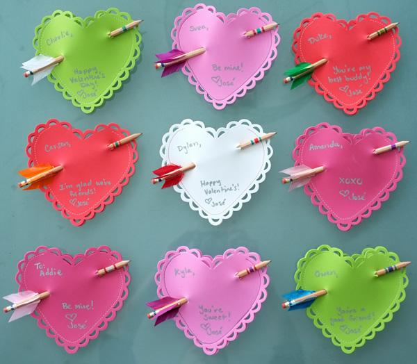 Arrow Pencil and Foam Heart Valentine's