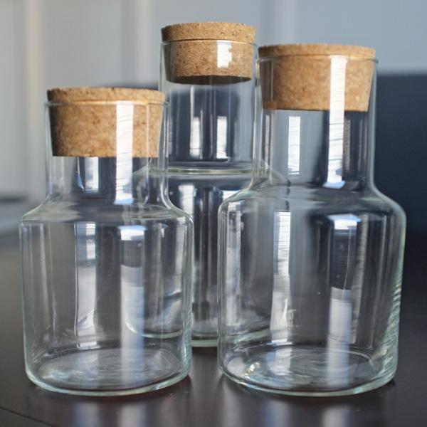 Corked Glass Jars