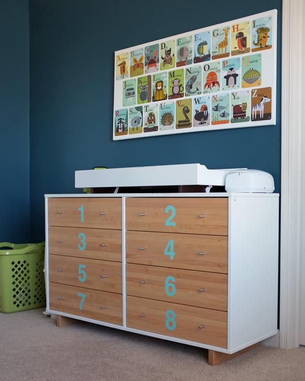 Numbered Dresser