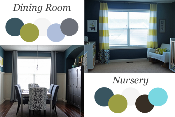 Two Rooms: Same Colors, Different Feel