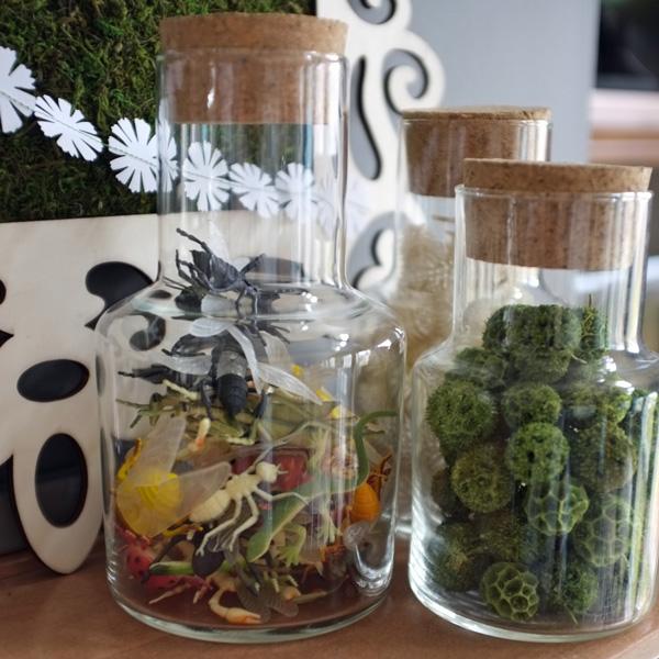 Jar of toy bugs
