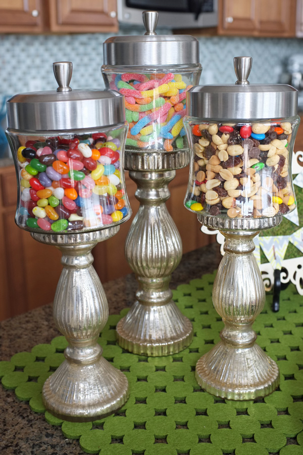 Candlestick Candy Jars