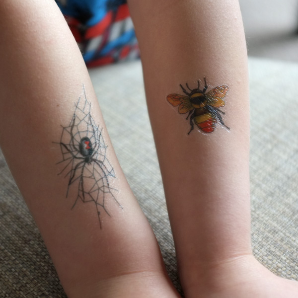 Temporary Bug Tattoos