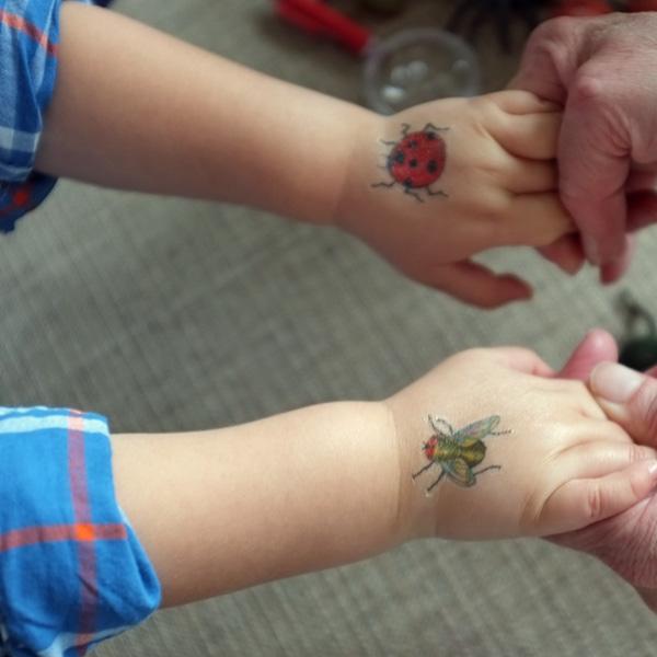 Temporary Bug Tattoos