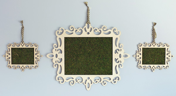 Framed Moss Party Decor