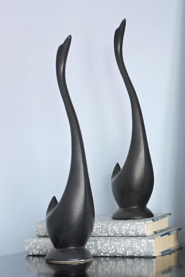 mid century modern geese figurines