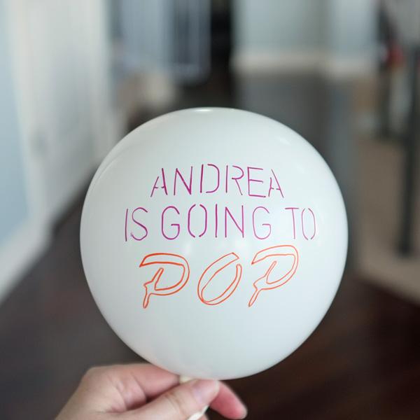 DIY Printed Balloon Party Invitations