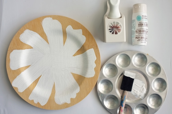 Painted bamboo plate