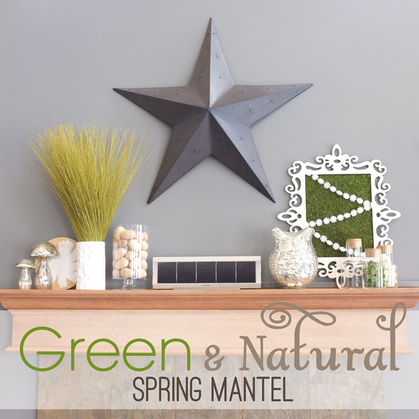 Green and Natural Spring Mantel