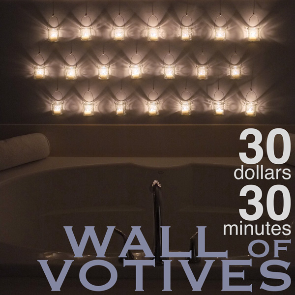 Votive Candle Wall