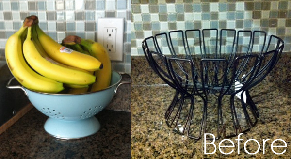 Wire Fruit Bowl Before