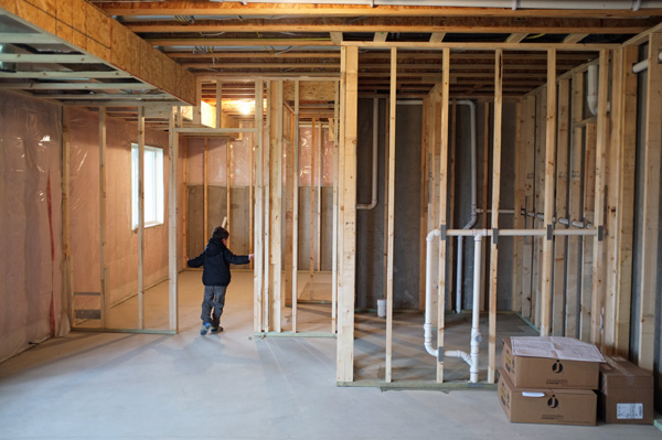 How To Frame A Basement Wall basement framing and soffit planning