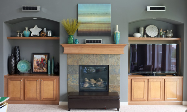 Living Room Colors With Oak Trim styling the family room built-ins & mantel