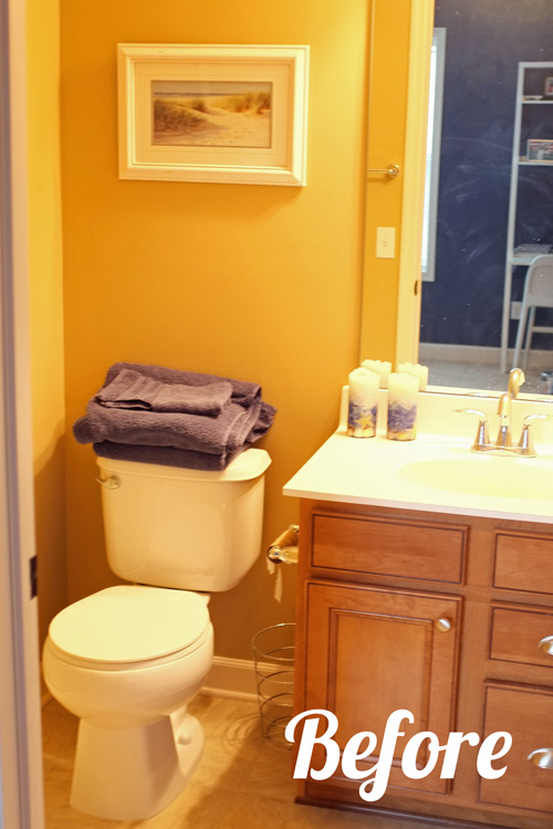 Guest Bathroom Paint Makeover