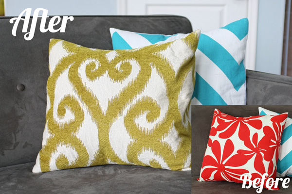 Throw Pillow Cover Instructions : Envelope Pillow Cover Tutorial School of Decorating by Jackie Hernandez