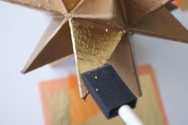 Applying Gold Leaf with Foam Brush