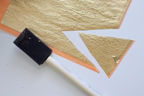 Cutting Gold Leaf sheets