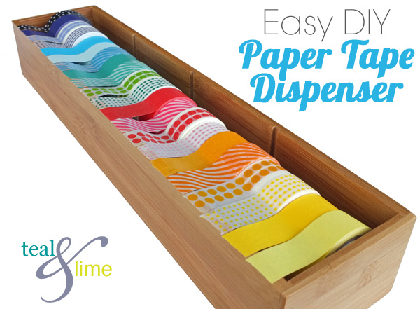 Easiest diy washi tape dispenser school of decorating by for What is washi tape and how do you use it