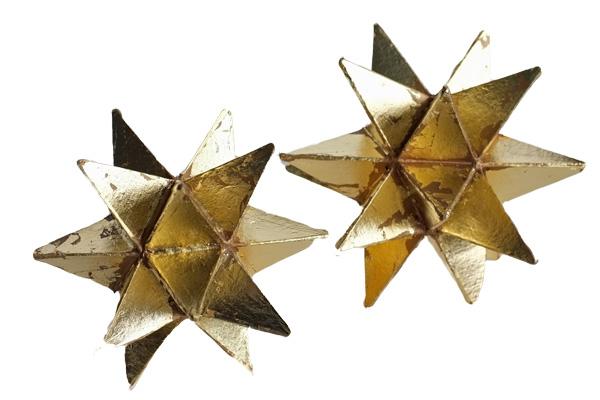 Gold Leaf Star Decor