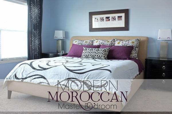 Moder Moroccan master bedroom