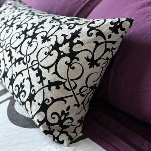 Flocked Baroque Pillow