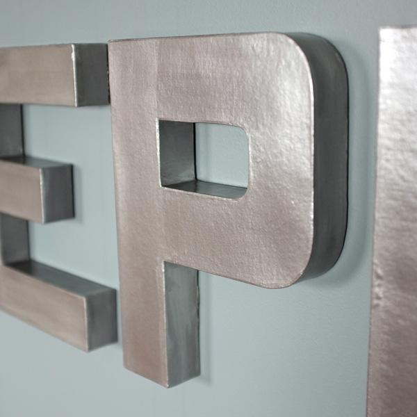 Faux Zinc Letters