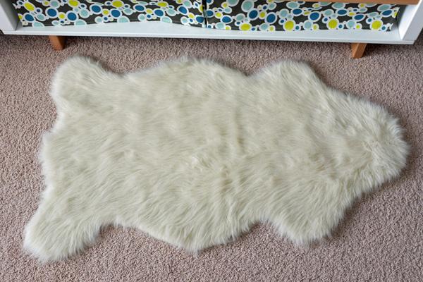 faux sheep skin rug