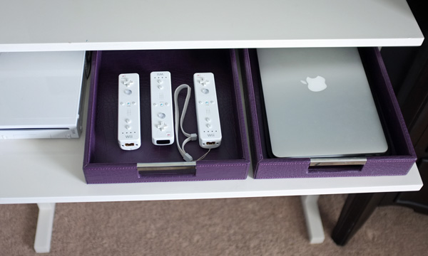 Pull out charging trays