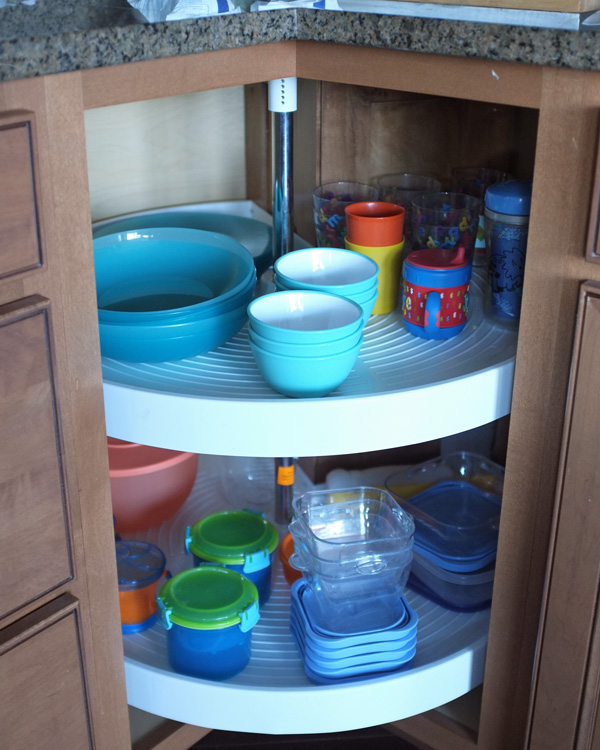 Tv Helping Push Kitchens Off The Shelf: Easy Access Cabinet For Kids Dishes