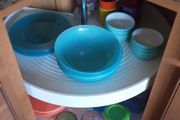 Easy Access Cabinet for Kids Dishes