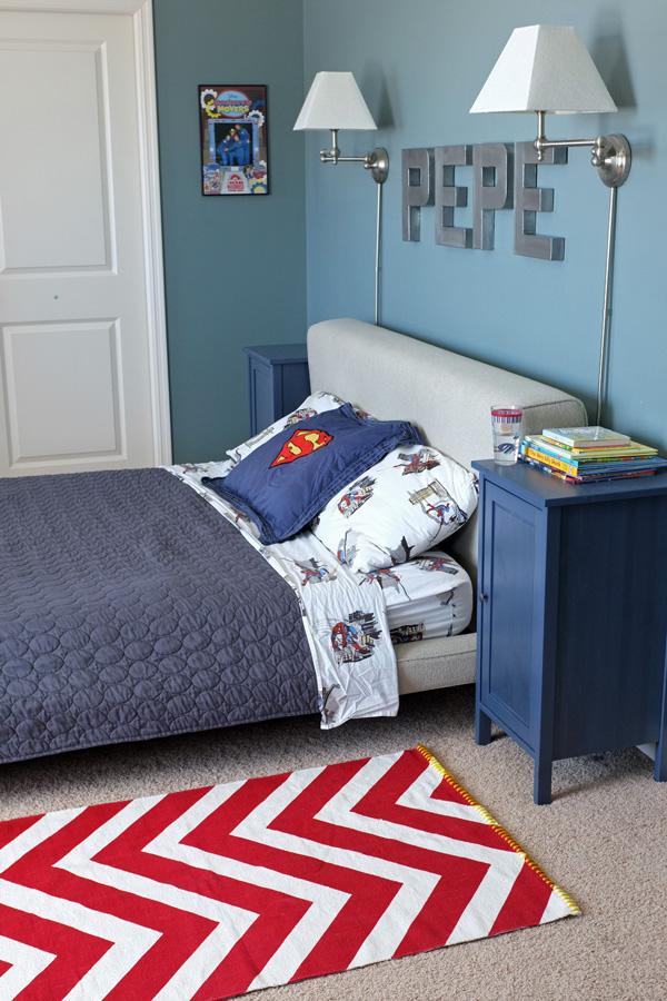 Boys Superhero Bedroom: A Rug Fit For A Super Hero