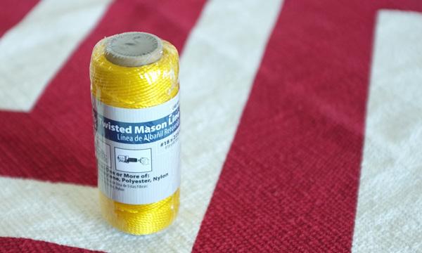 Yellow Twisted Mason Line