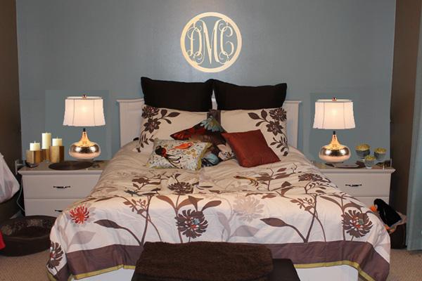 Master Bedroom lighting and art