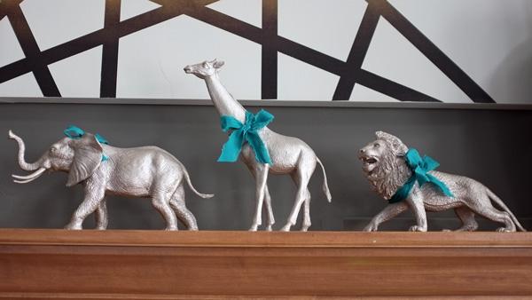 Gilded animal holiday decor