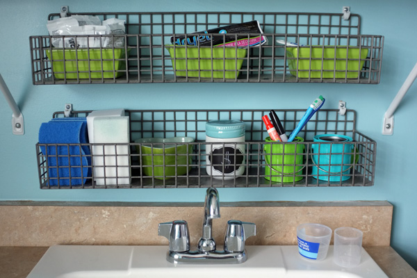Decorating Laundry Room Shelves