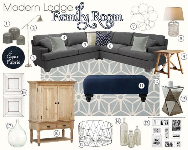 Modern Lodge Mood Board