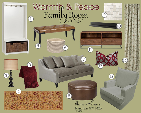 Family Room Mood Board