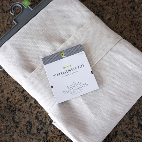 metallic table cloth