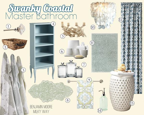 Coastal Bath Decor: Swanky Coastal Master Suite Before & After