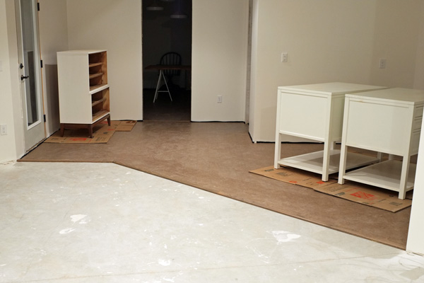 How i saved over 700 on cork flooring for the basement for Is cork flooring good for basements