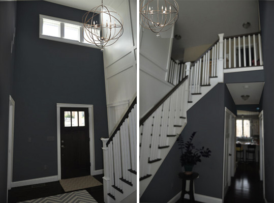 Dark Foyer Paint : Grand welcoming foyer mood board school of decorating by