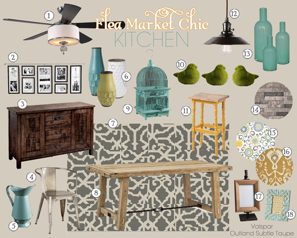 Flea Market Chic Kitchen Mood Board