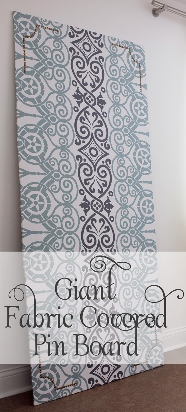 giant fabric covered pin board tutorial school of decorating. Black Bedroom Furniture Sets. Home Design Ideas