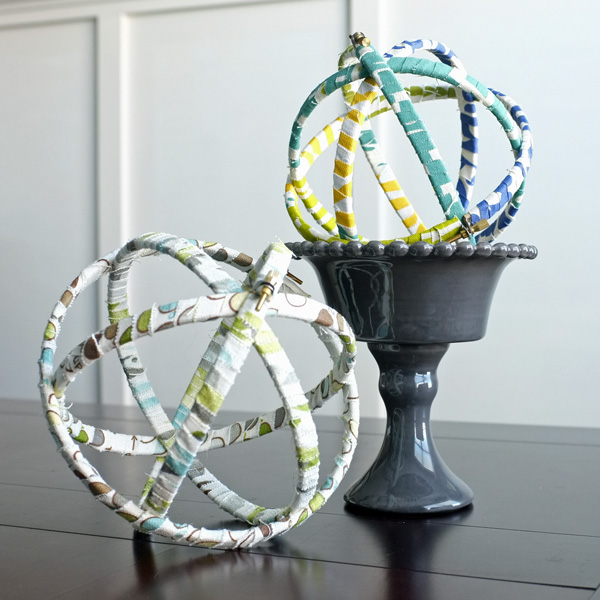 Fabric Wrapped Embroidery Hoop Sphere