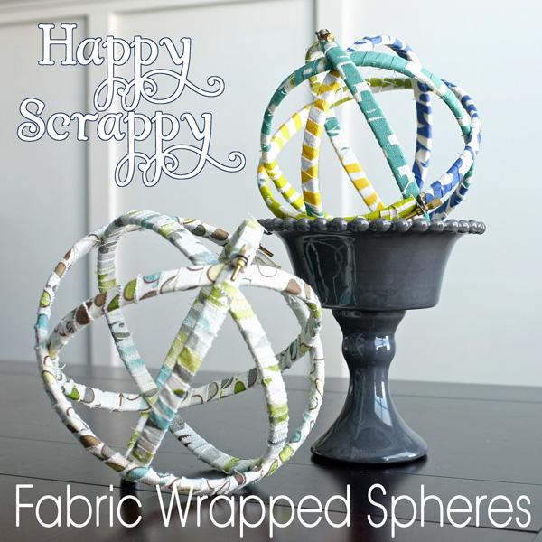Fabric Scrap Decorative Spheres