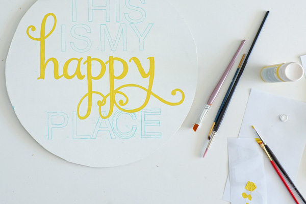 DIY Serving Tray Art
