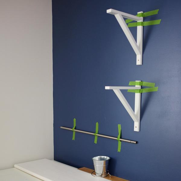 white stair tread shelves