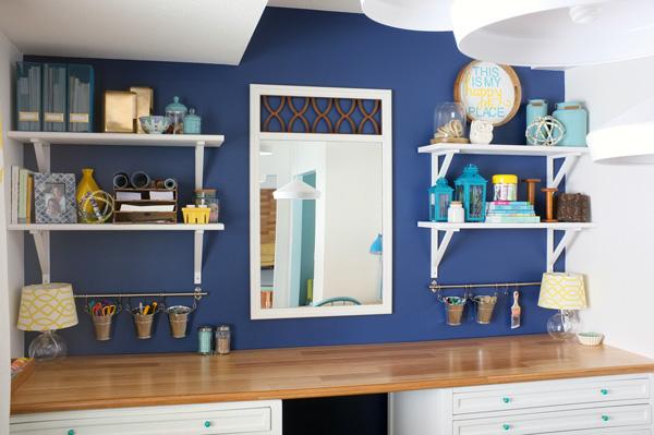 Craft Studio Open Shelves