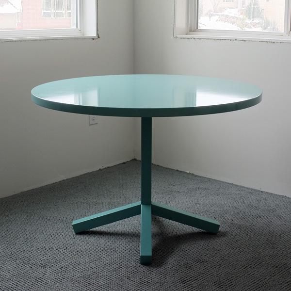 Turquoise Blu Dot Pedestal Table