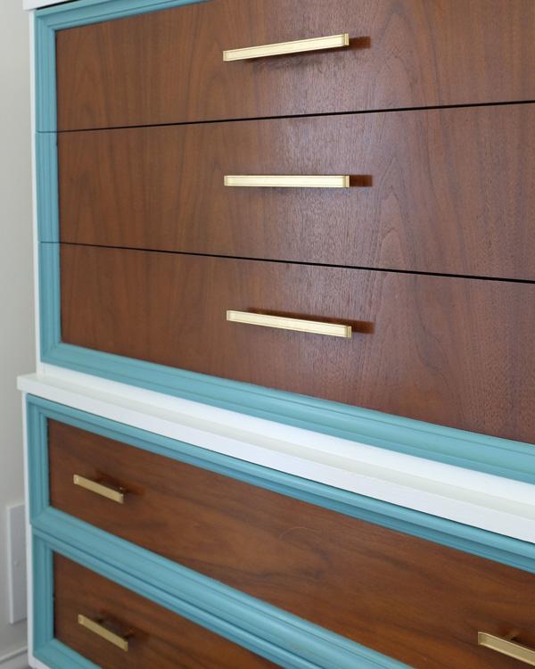 Modern Brass Dresser Pulls
